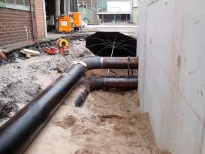 Erdverlegte Wasserleitung